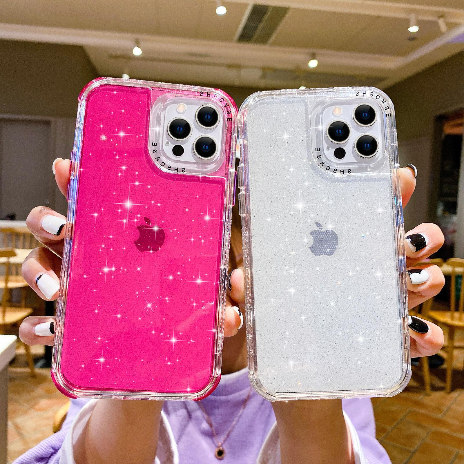 bling glitter clear shockproof case cover
