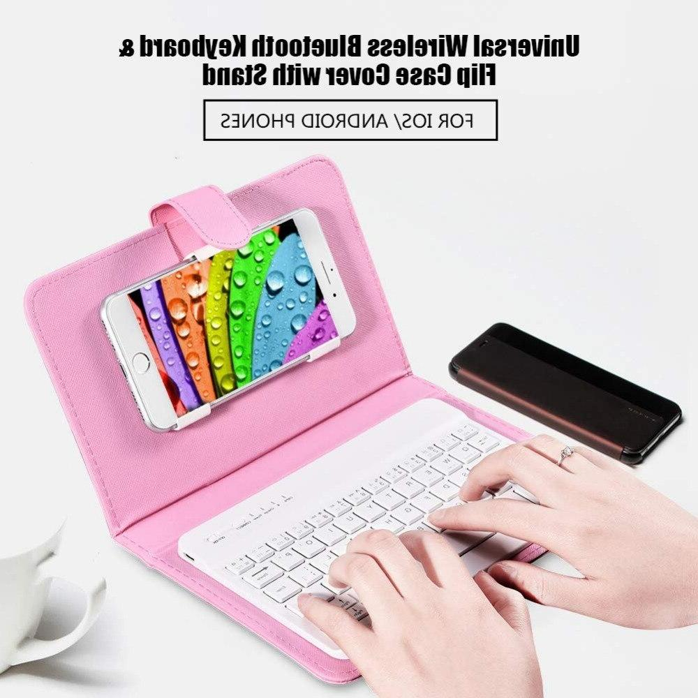Bluetooth Mobile Phone with Leather Mini Wireless Portable IOS Android iPhone 8