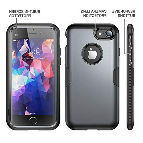 YOUMAKER Case 8 Full Rugged Built-in Screen Duty Shockproof iPhone 8 4.7 -