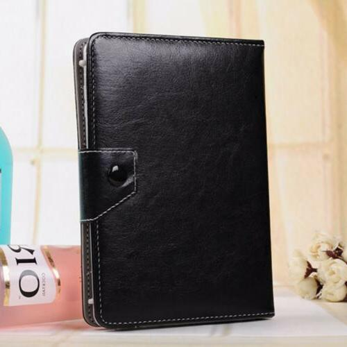 For Tablet Keyboard Universal Leather Stand Case Cover WQ