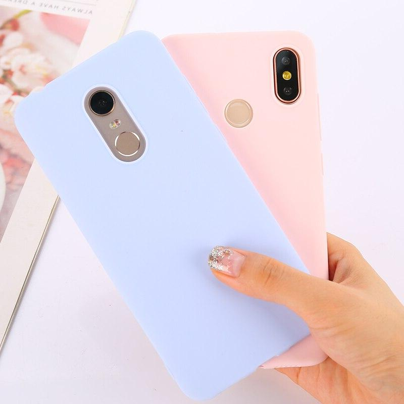 Color TPU For Xiaomi Redmi Note 6 8 Pro 7A Matte Xiaomi 9 Mi 9T Mi A2 A3