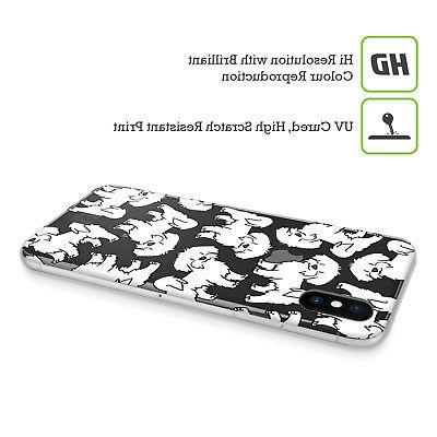 HEAD DOG BREED SOFT GEL CASE FOR iPHONE