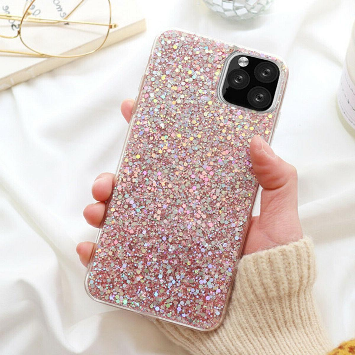 F Iphone Max 8 XS Cute Bling Glitter Girls Case