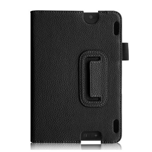 Fintie Folio Case for Fire 7 Slim Fit Leather Standing Protective Auto Sleep/Wake , Black