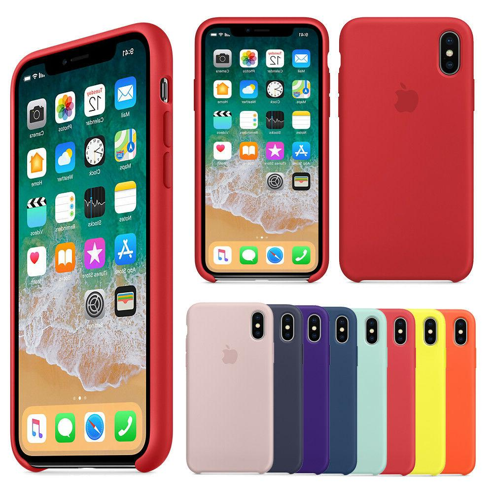 For Apple X XR XS 8 7 6 6s Genuine Soft Case Cover