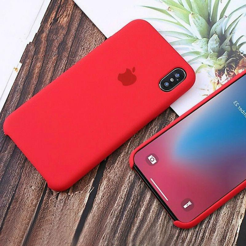 Genuine OEM Silicone Case Cover For iPhone XR 8 Plus SE
