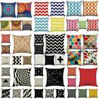 Geometric Office Sofa Bed Car Waist Throw Cushion Cover Deco
