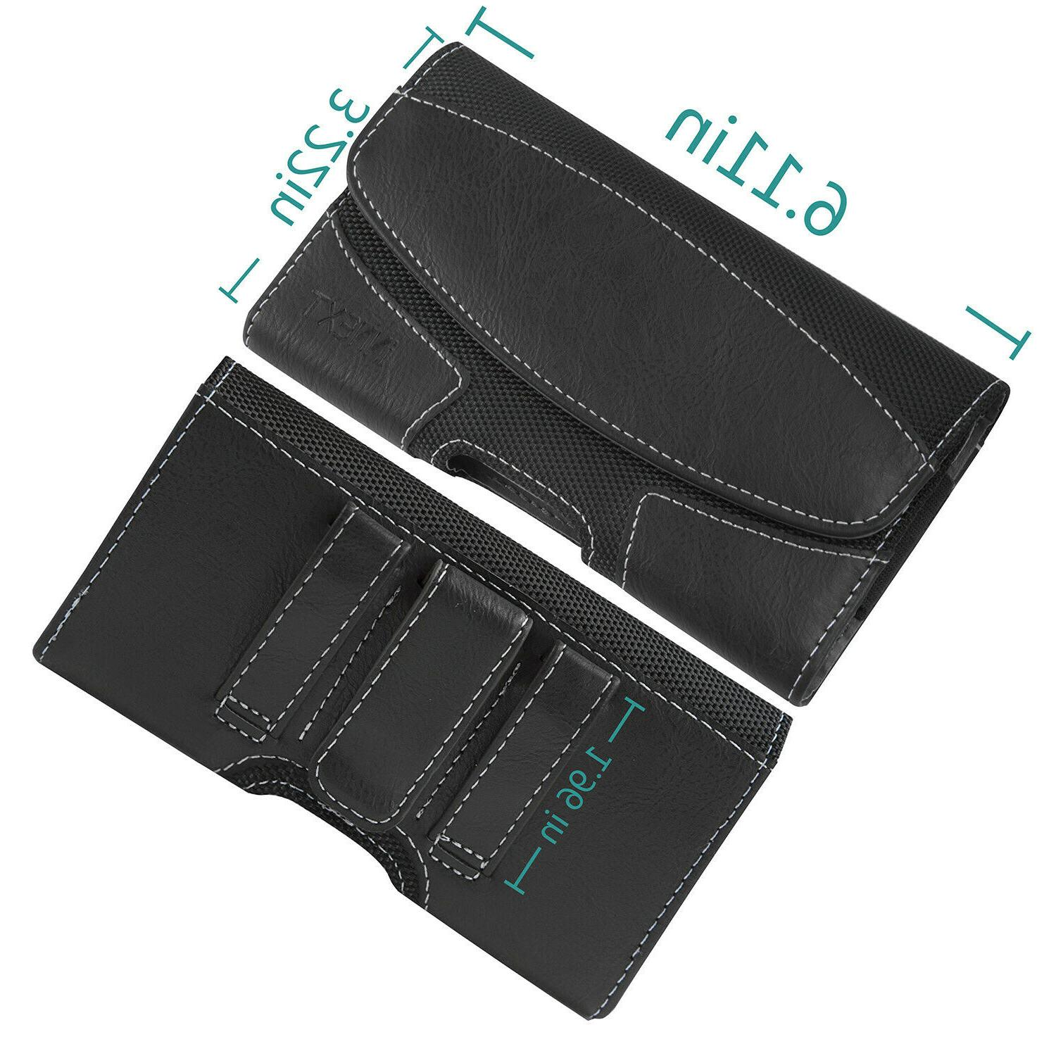 Horizontal Leather Phone Pouch Case Cover