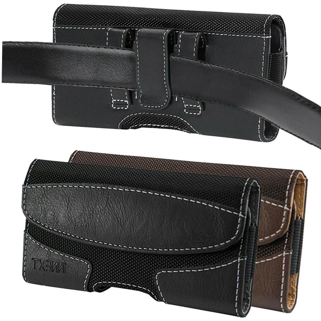 horizontal leather cell phone pouch case cover