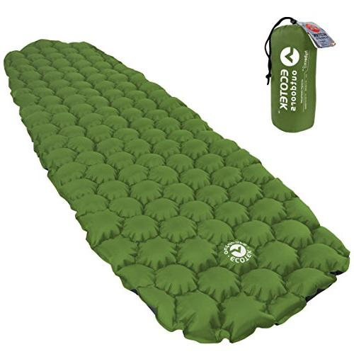 ECOTEK Outdoors Hybern8 Ultralight Inflatable Sleeping Pad for Hiking and