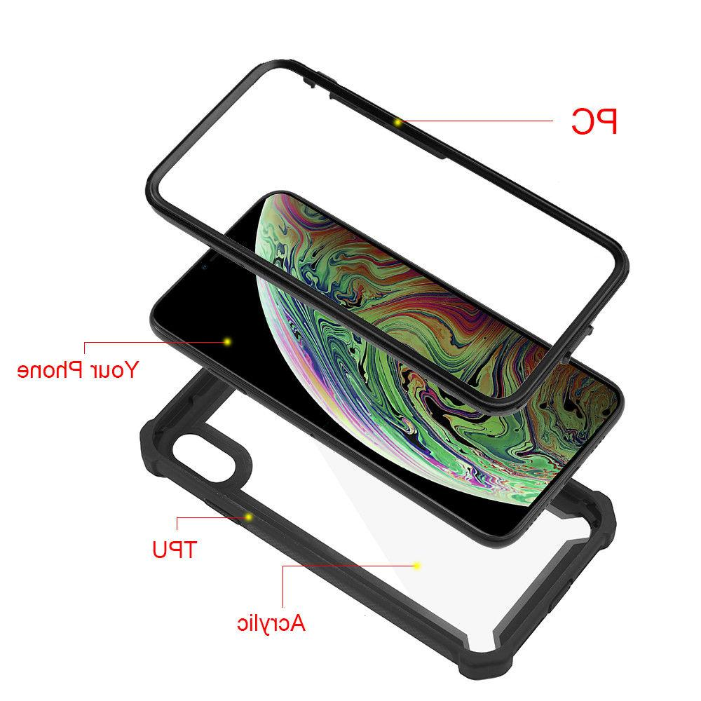 Hybrid Shockproof Clear Case Fits iPhone XS