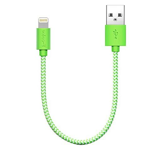 iPhone 8 Charger, 8 Inch Short F-color Braided