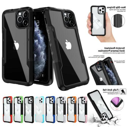 For iPhone Pro Max XS 8 7 SE2 Hybrid Shockproof Bumper Clear Cover