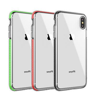 For iPhone 11 Max XR 7 6 Clear Shockproof Hybrid Cover