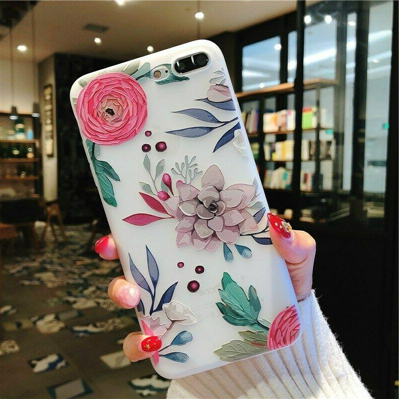 For iPhone 7 8 Plus Cute Phone Case Girl Cover