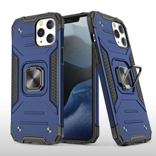For iPhone 11 Pro Max XR 8 7 Ring Stand Hard Cover