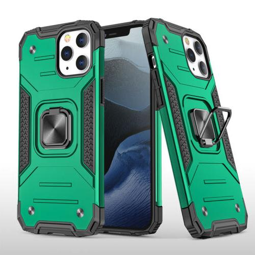 For iPhone 11 Pro Max 8 Ring Stand Armor Hard