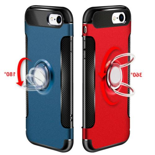 For 7 Plus Case Skin Cover Luxury Finger Ring