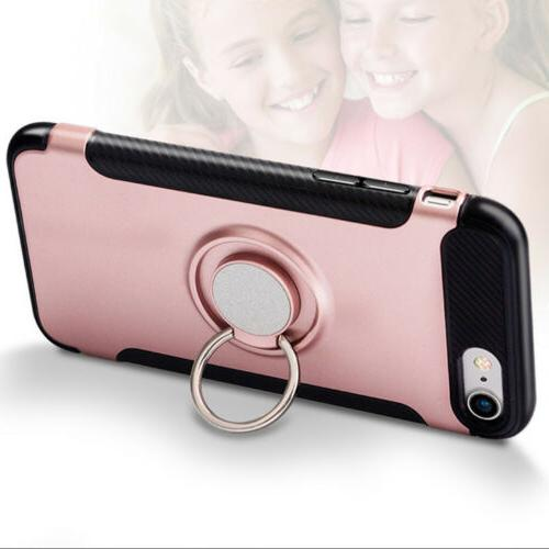 For iPhone 5 7 Plus Cover 360° Finger Ring