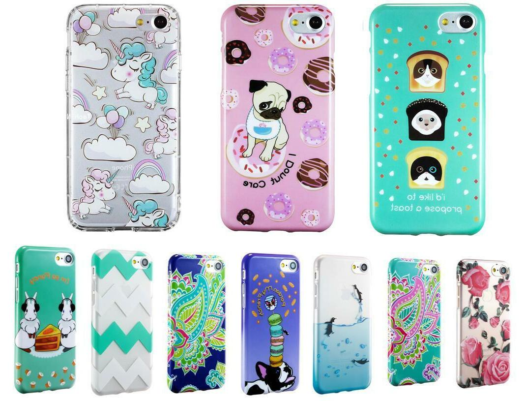 For iPhone 6 6S 8 7 Plus Case Slim Soft Silicone Cute Ultra