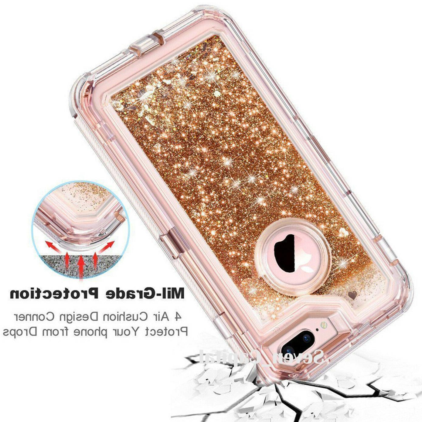 For iPhone 6S 8 Glitter Cover Case