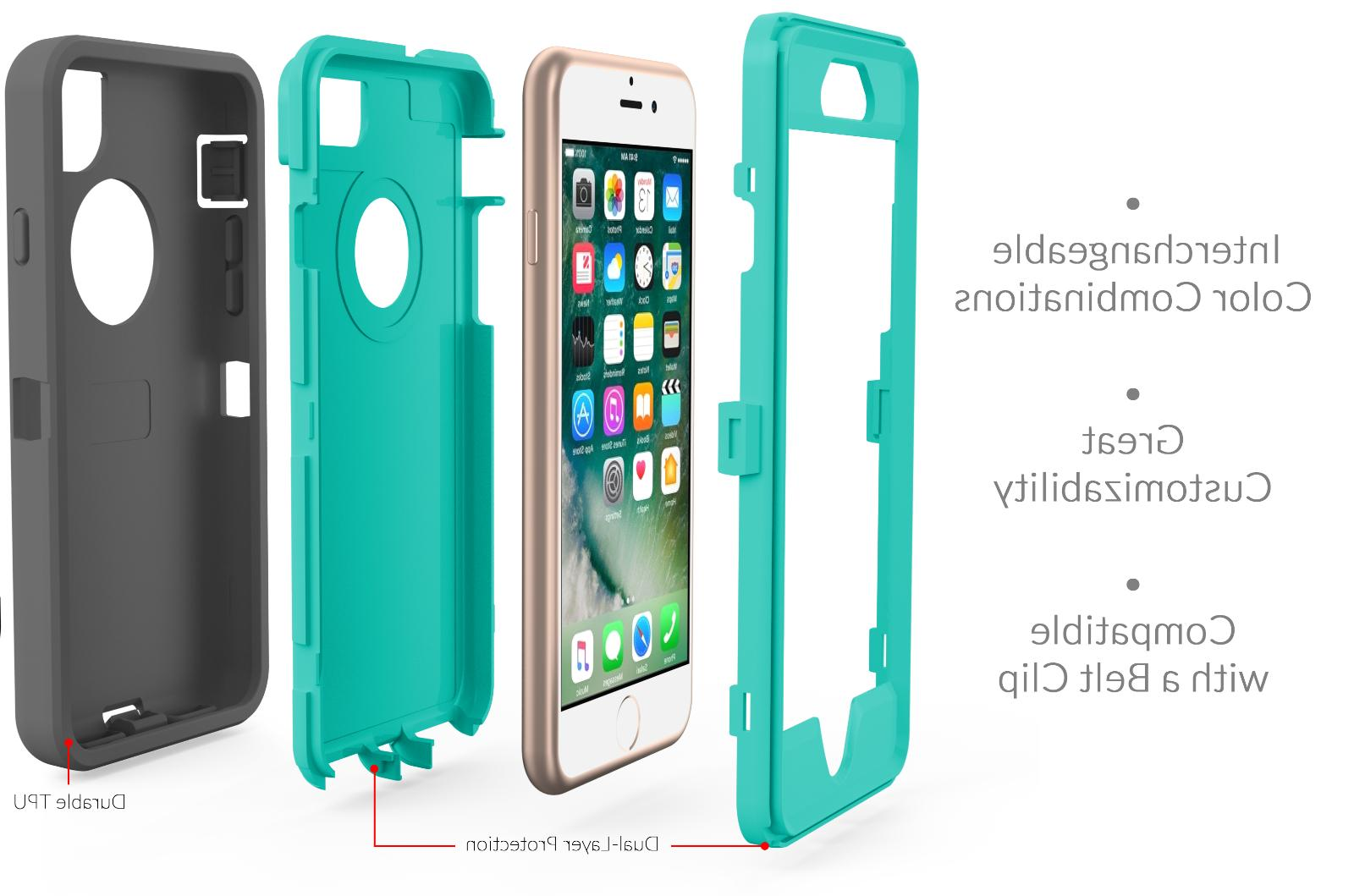 For 7 8 Plus Case Protective Hybrid Rugged