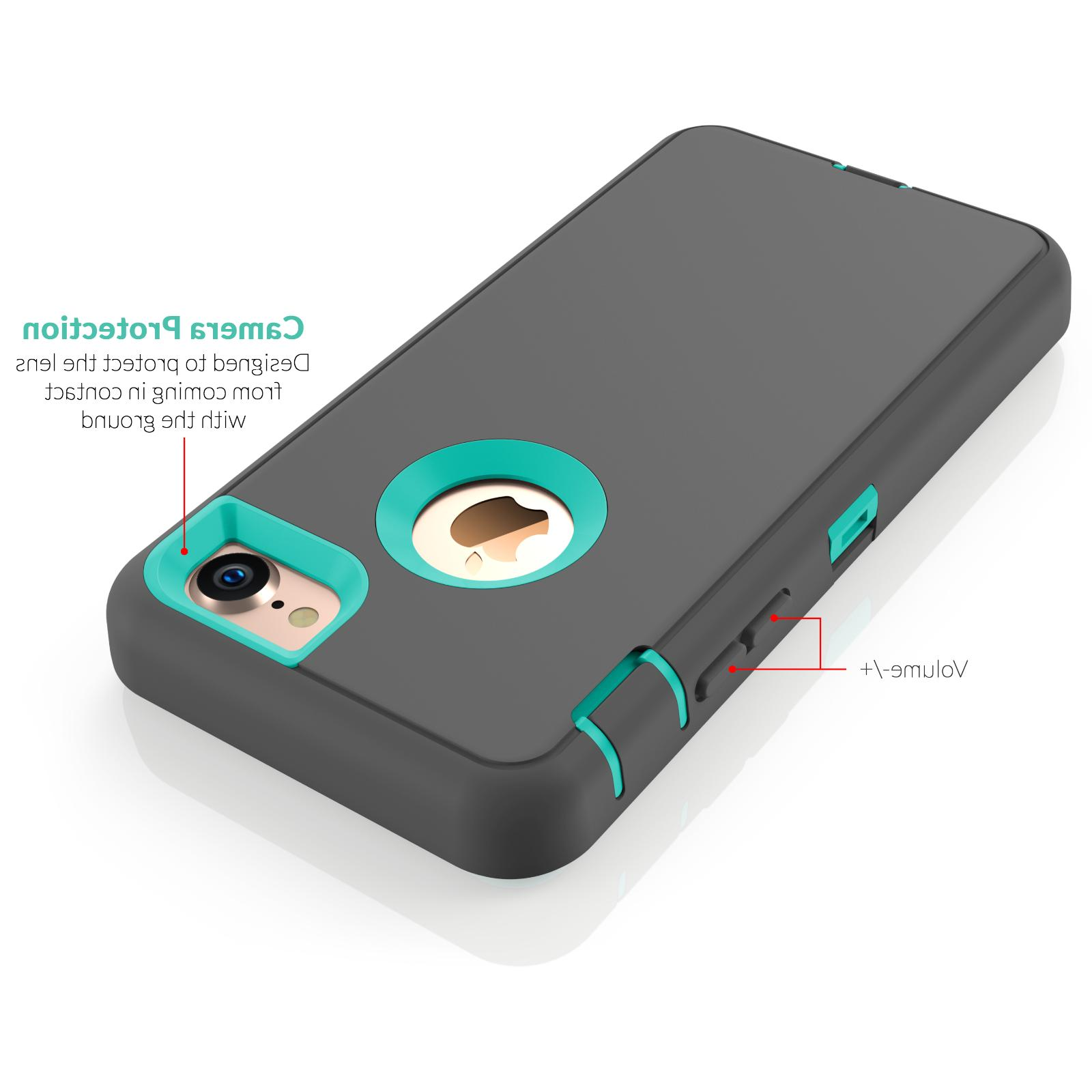 For iPhone / 7 Plus 8 Protective Hybrid Rugged