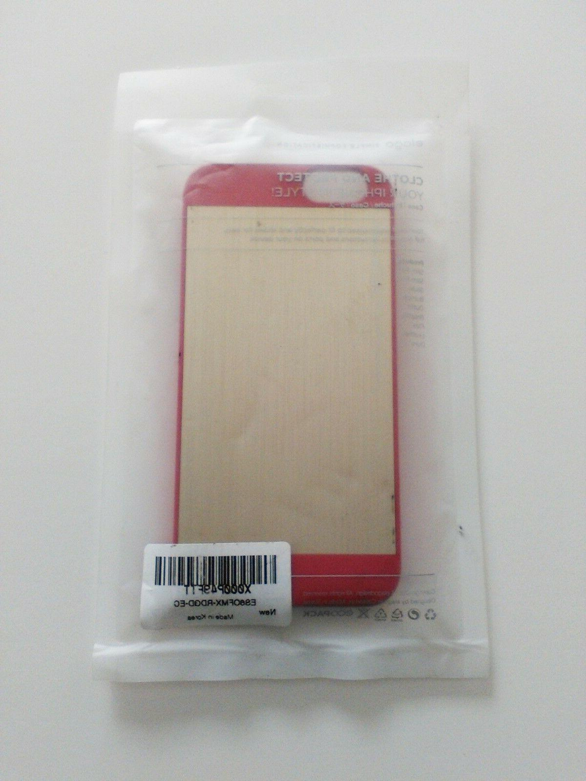 iphone 7 8 case red and wood