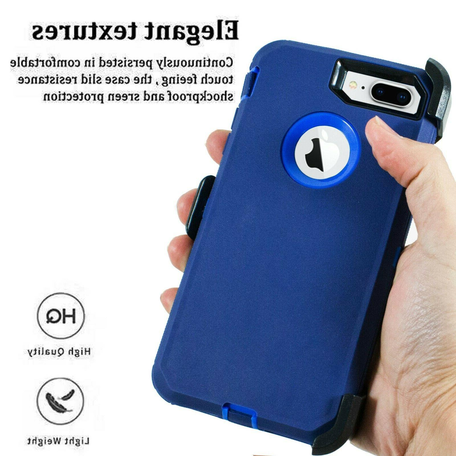 For iPhone 8 Plus Shockproof Case + Screen Protector