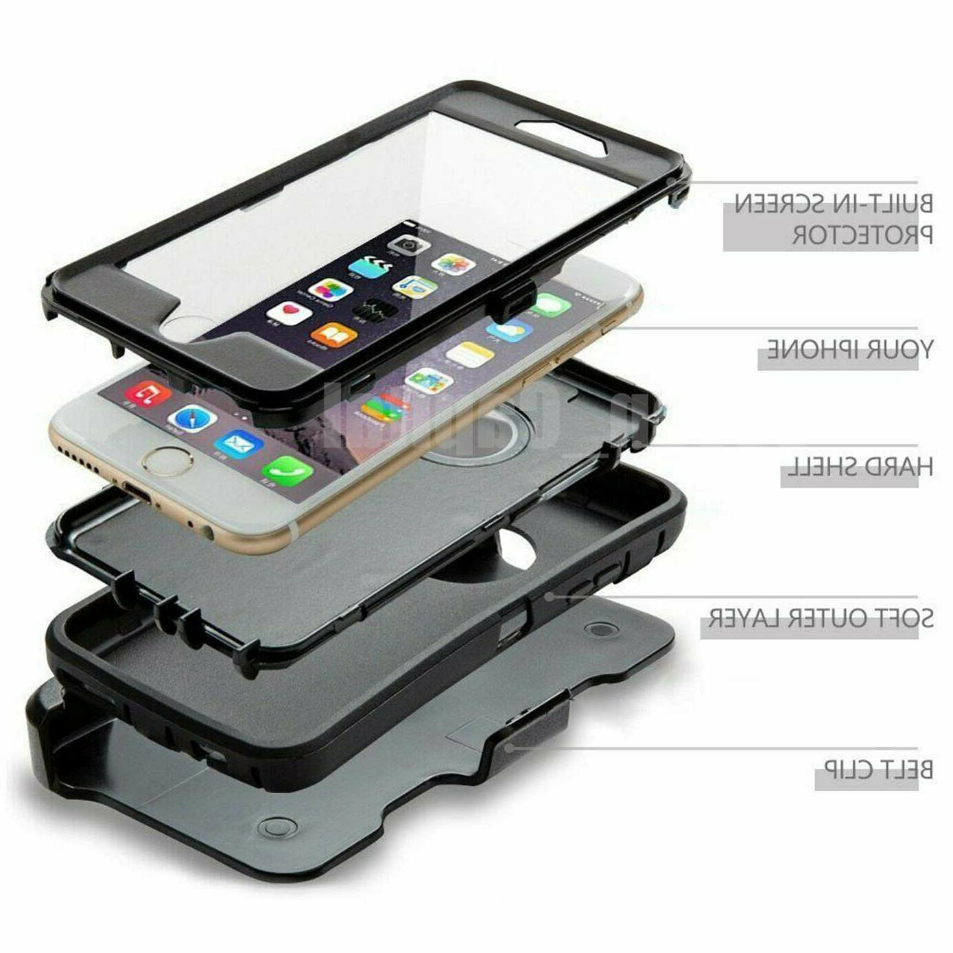 For 7/ Plus Cover Otterbox Defender