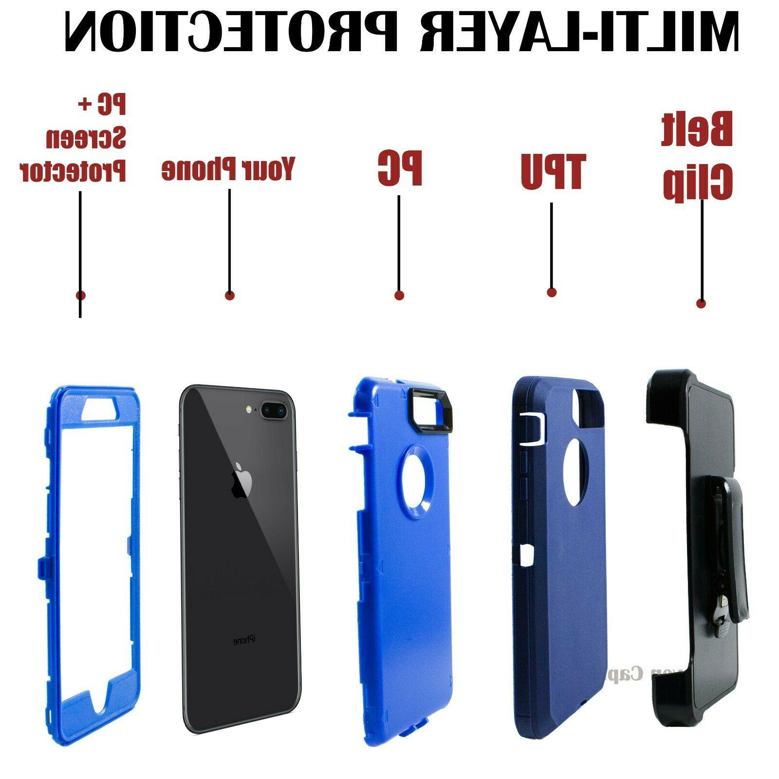 For Plus Shockproof Case Cover Belt Clip Otterbox