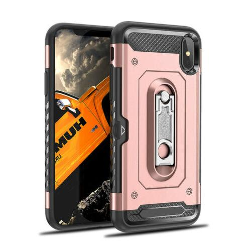 For iPhone Plus X XR Kickstand Hard Case
