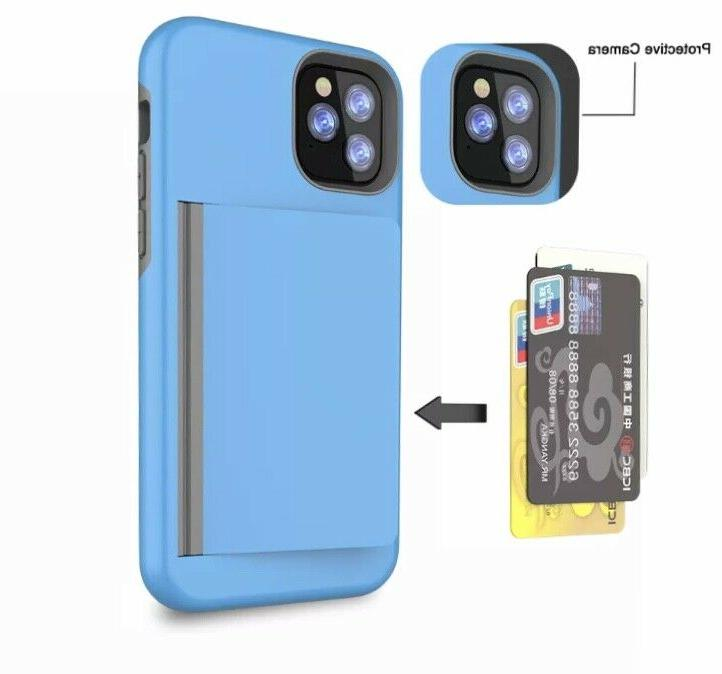 iPhone 7 X XS PRO Cover Wallet Credit CARD HOLDER