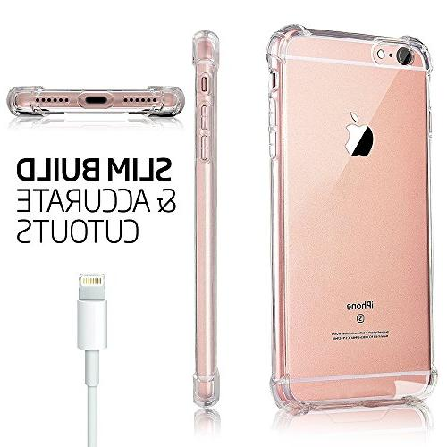 for iPhone Case, for iPhone 8 Matone Crystal Clear Absorption Soft TPU Cover iPhone 8 - Clear