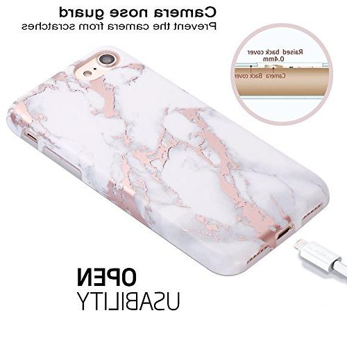 White Marble Design Bumper Matte Rubber 7 / iPhone