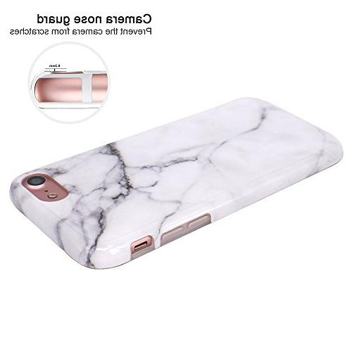 JAHOLAN Clear Bumper Glossy Soft Rubber Silicone Cover Phone Compatible iPhone