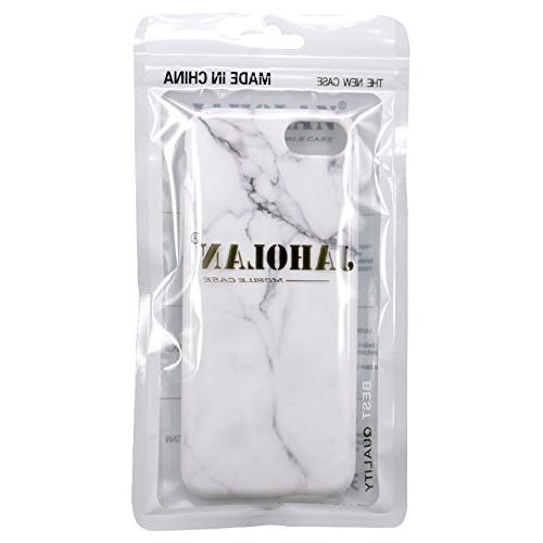 JAHOLAN Marble Clear Soft Rubber Phone Case iPhone 7 8