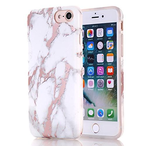 BAISRKE Rose White Design Bumper TPU Case Compatible with 7 /