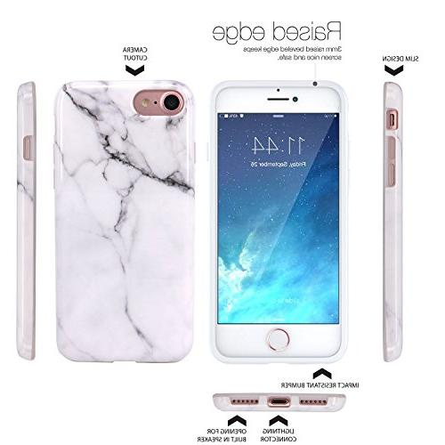 JAHOLAN White Design Clear Glossy Soft Phone Compatible iPhone