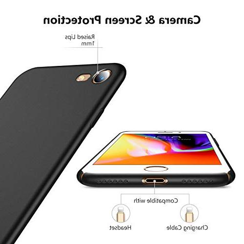 TORRAS Slim iPhone 8 7 Anti-Scratch Resistant Compatible with iPhone 7 /iPhone Space Black