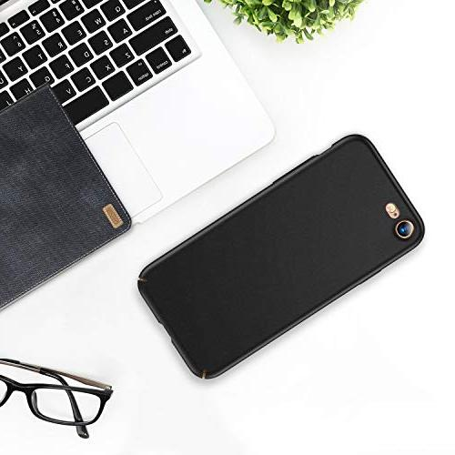 TORRAS Slim Fit 8 Case/iPhone Case, Hard Plastic Protective Anti-Scratch Resistant Cover Compatible 7 /iPhone Black