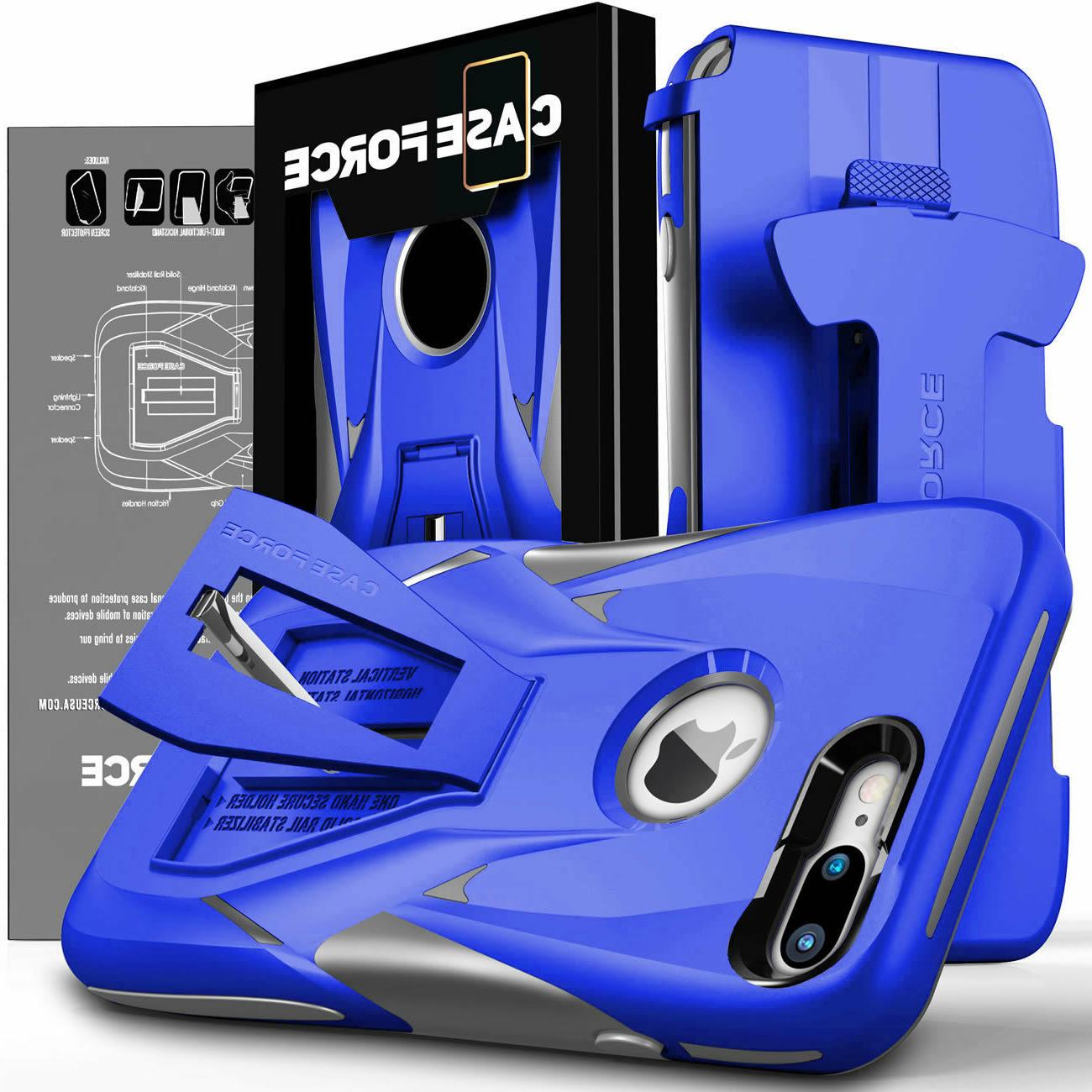 iPhone 7 Cover Kickstand Stand Hybrid Hard Holster CASE FORCE