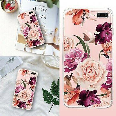 iPhone 7 Plus&8 Case,Floral Clear Case for iPhone Plus 2