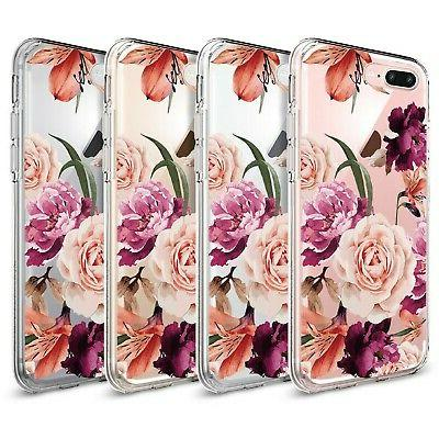 iPhone Plus Case,Floral Clear TPU Case iPhone Plus 2
