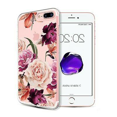 iPhone Plus&8 Plus Case,Floral Pattern Case for iPhone Plus