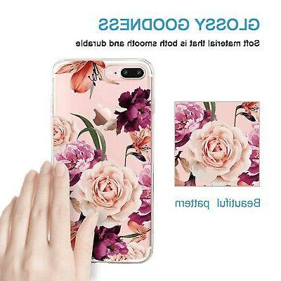 iPhone 7 Plus Case,Floral Pattern Case