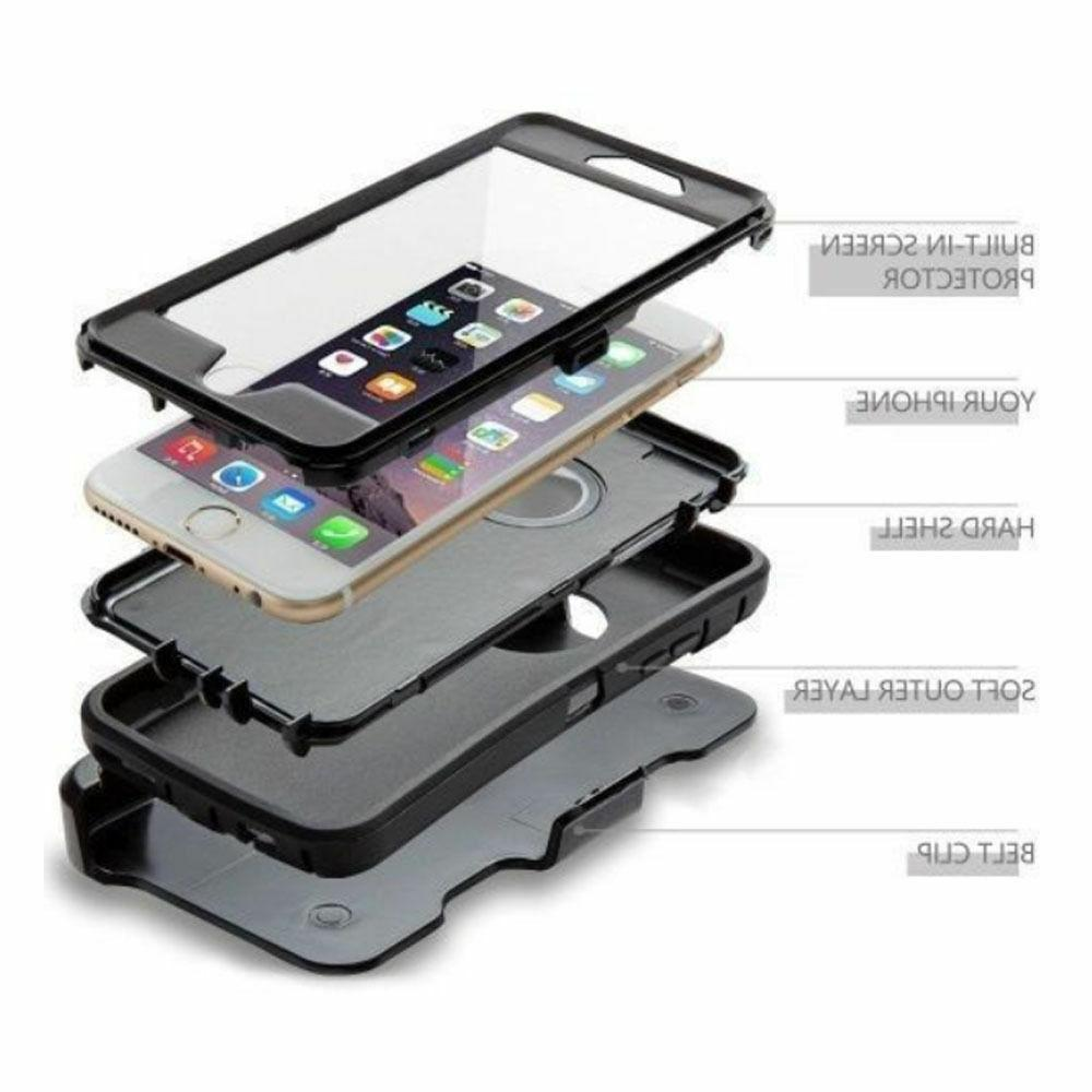 Defender Belt Clip & Screen Protector For iPhone &