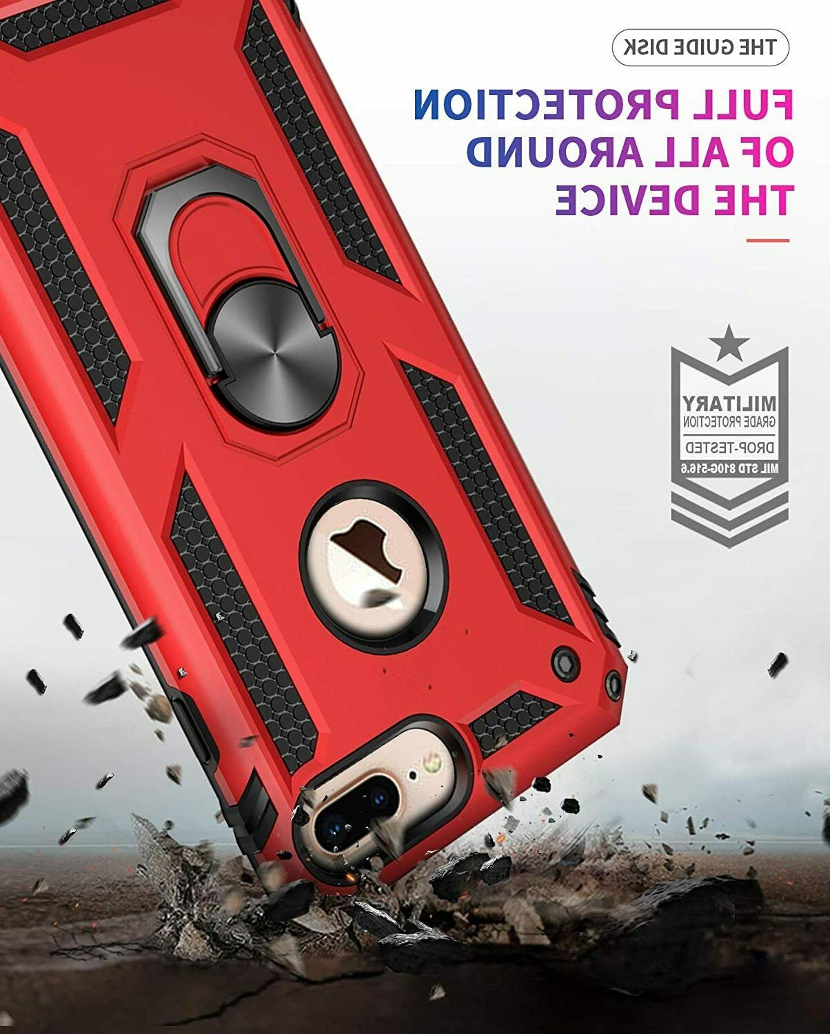 For & iPhone Shockproof Ring Hard Cover