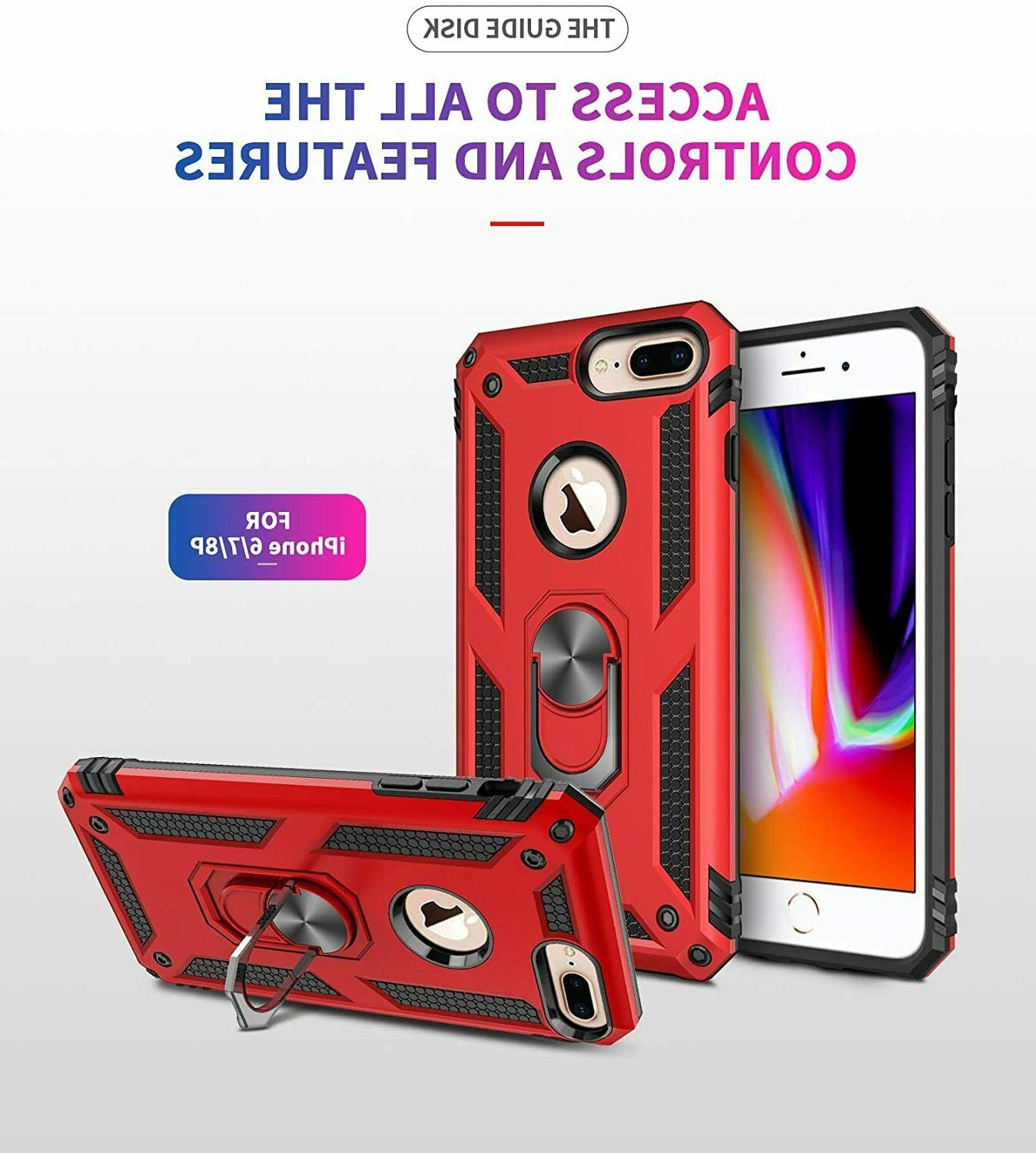 For 7Plus & iPhone 8Plus Shockproof Ring Holder Cover