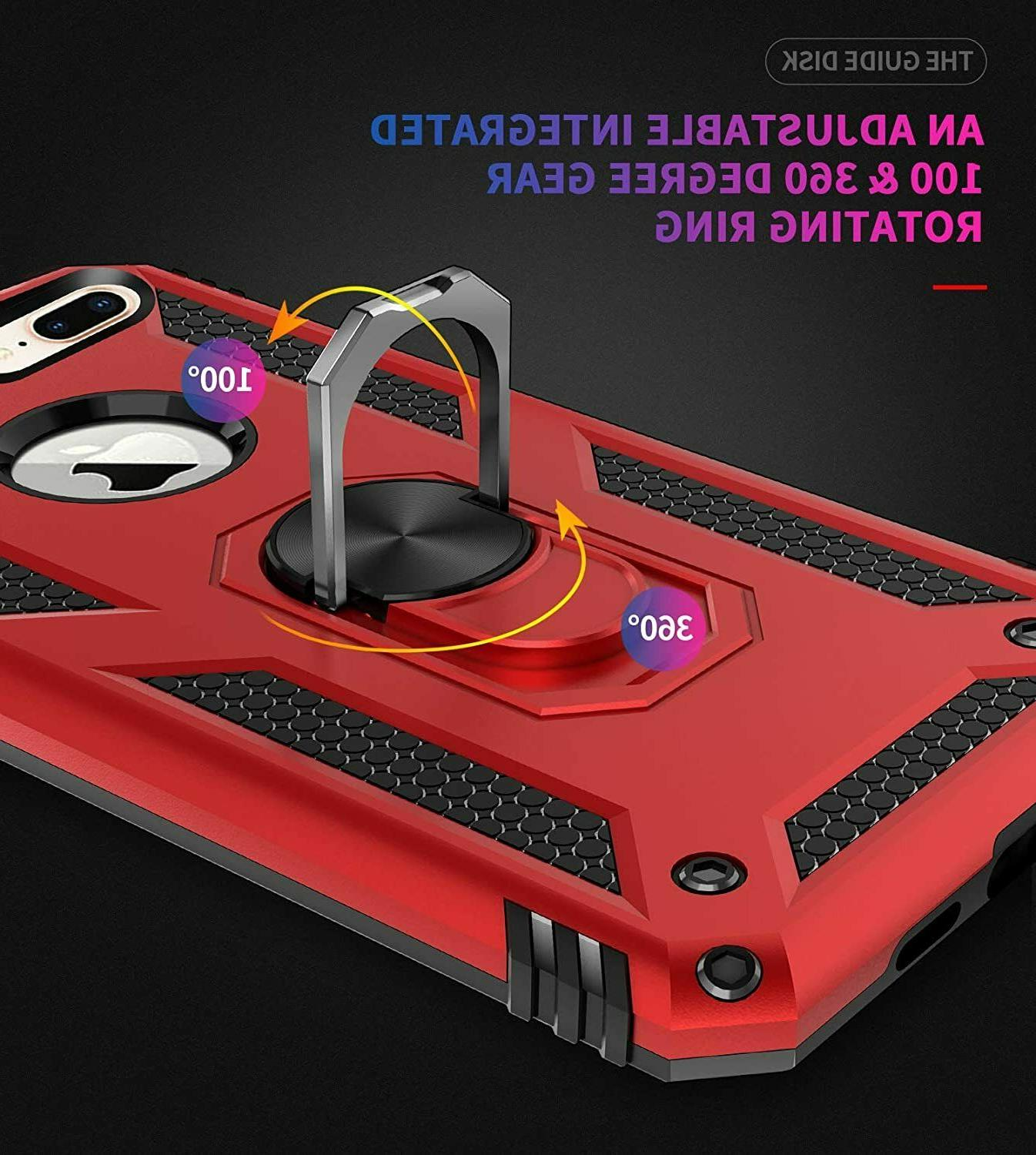 For 7Plus iPhone 8Plus Case Kickstand Shockproof Cover